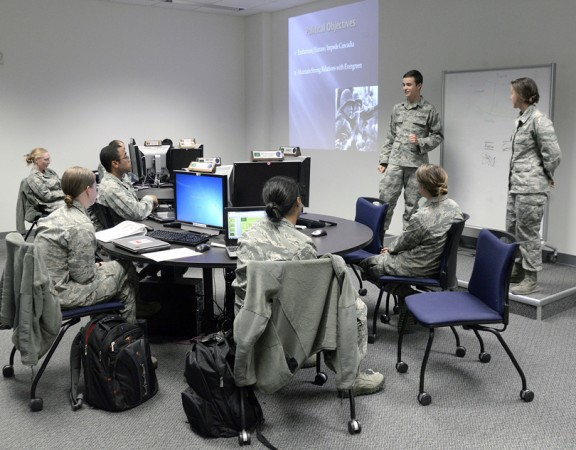USAFA cadets in a military strategic studies course.