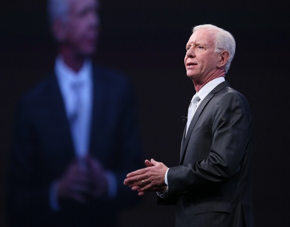 Capt. Sullenberger speaking before the Americas' SAP Users' Group
