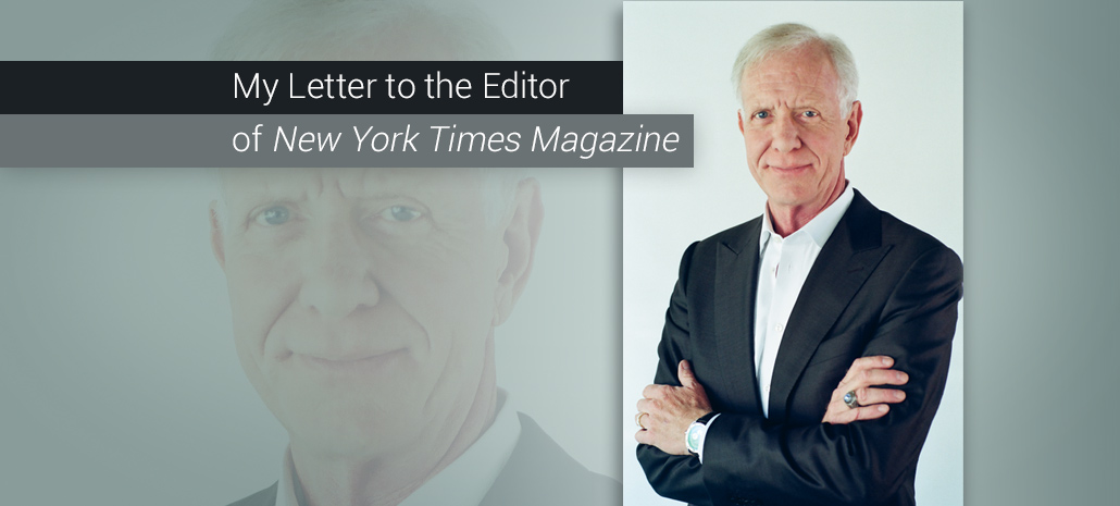 My Letter to the Editor of New York Times Magazine